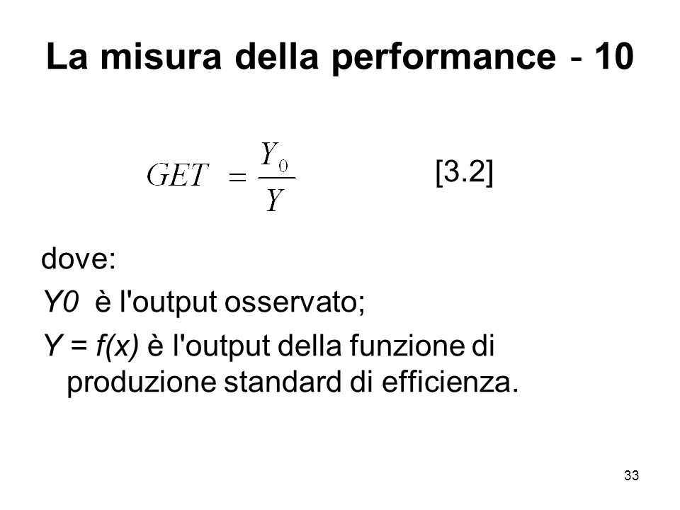 La misura della performance - 10
