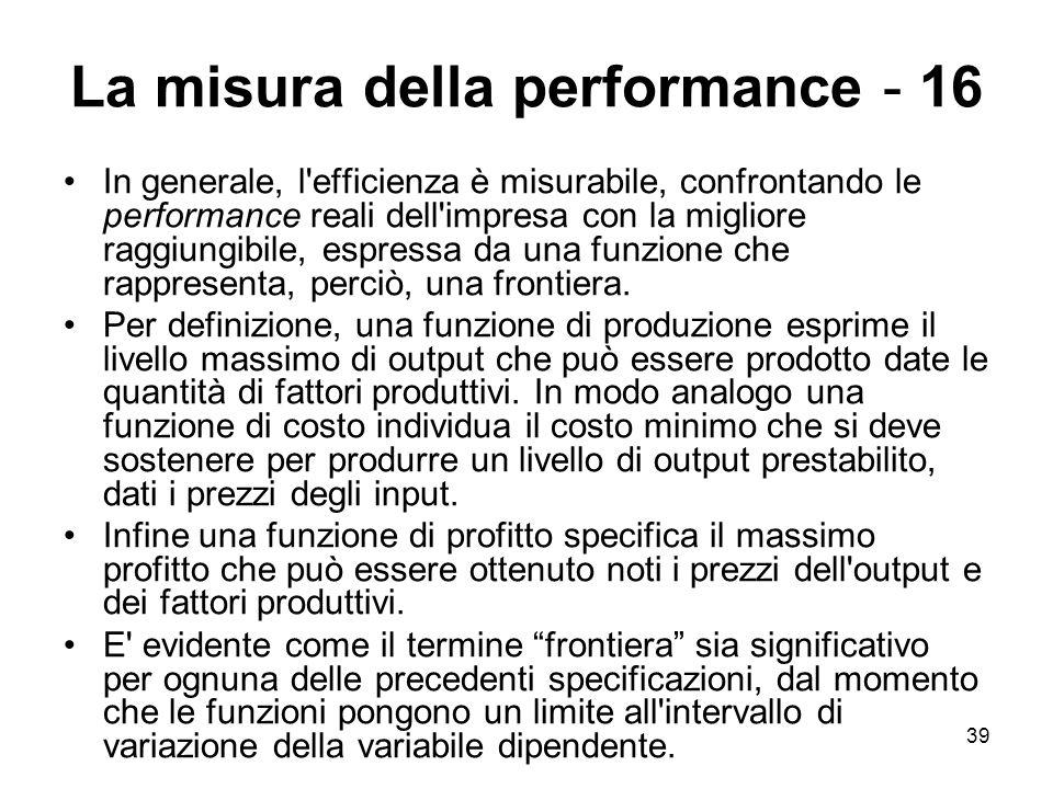 La misura della performance - 16