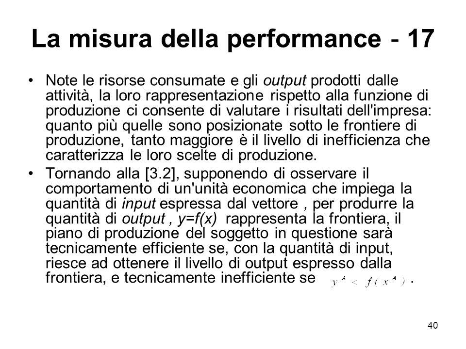 La misura della performance - 17