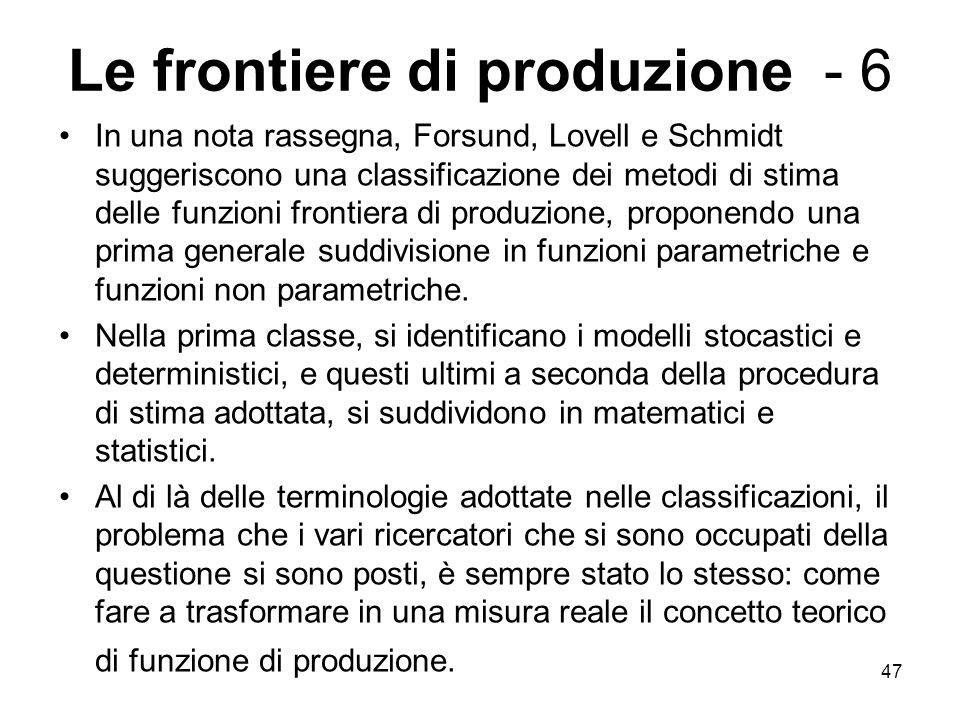 Le frontiere di produzione - 6