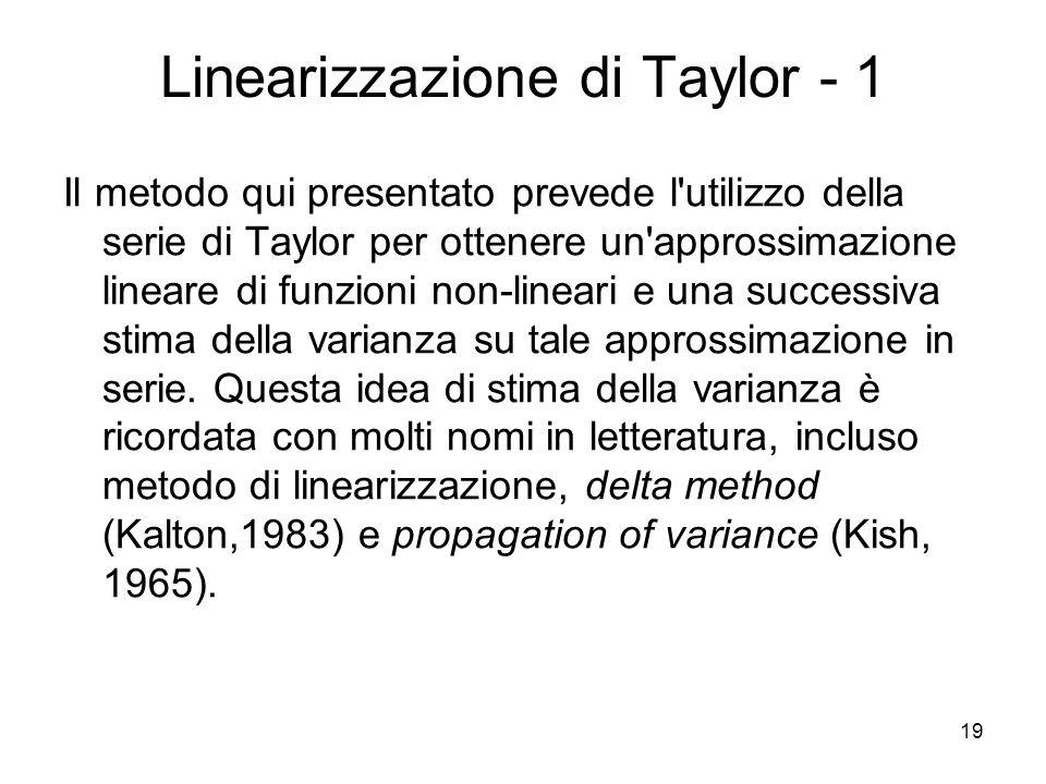 Linearizzazione di Taylor - 1