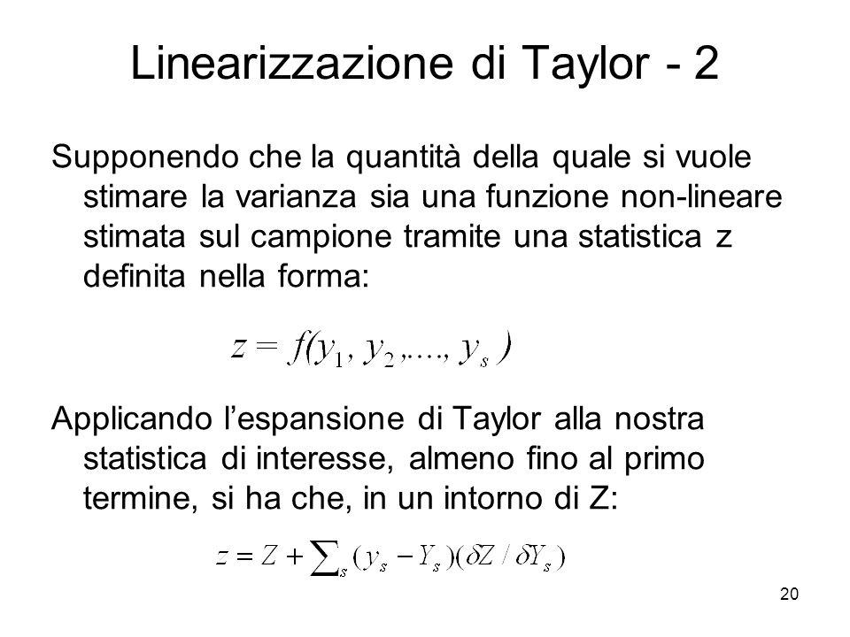 Linearizzazione di Taylor - 2