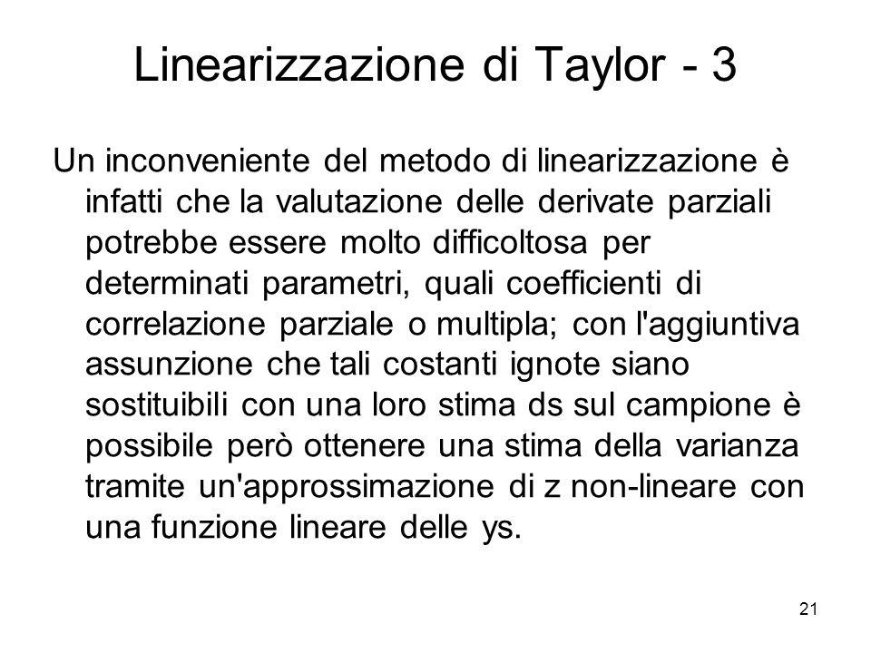 Linearizzazione di Taylor - 3