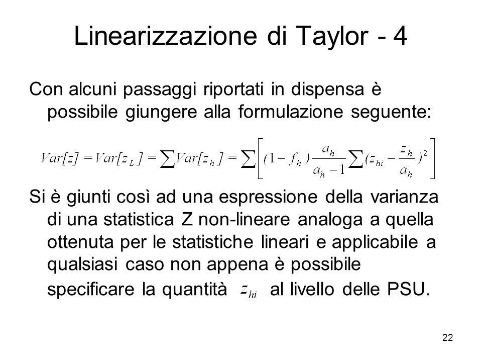 Linearizzazione di Taylor - 4