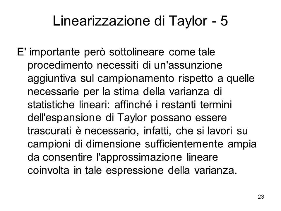 Linearizzazione di Taylor - 5