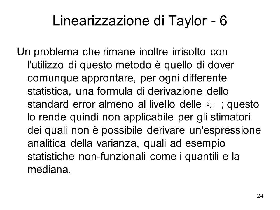 Linearizzazione di Taylor - 6