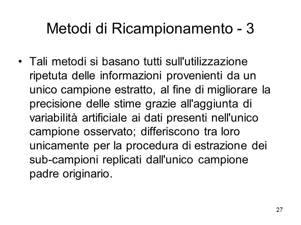 Metodi di Ricampionamento - 3