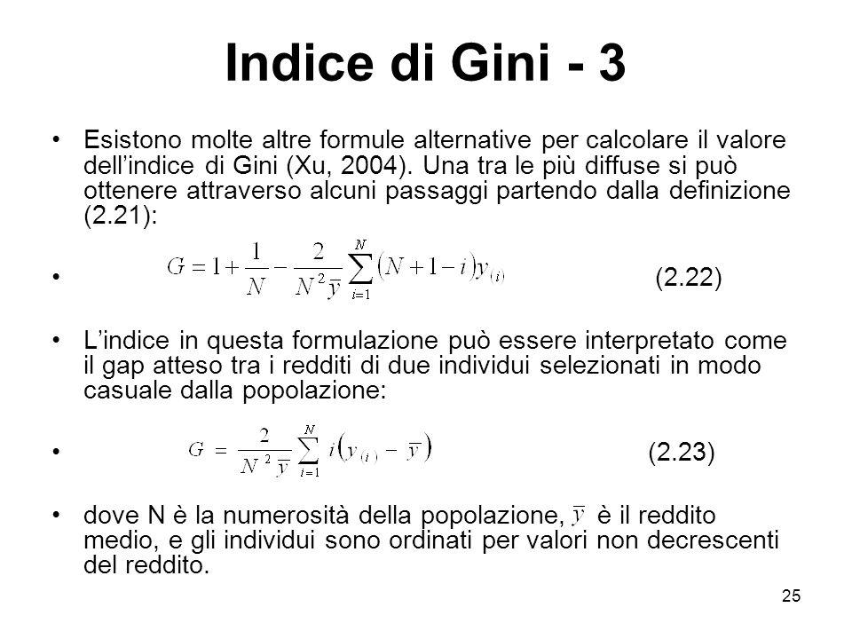 Indice di Gini - 3