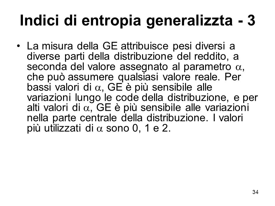 Indici di entropia generalizzta - 3