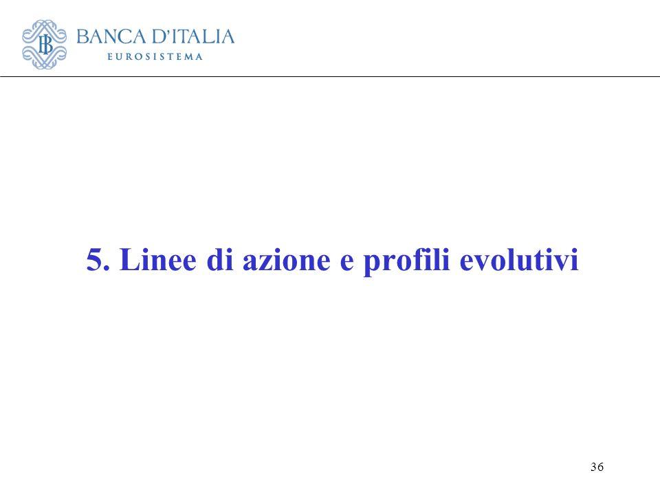 5. Linee di azione e profili evolutivi