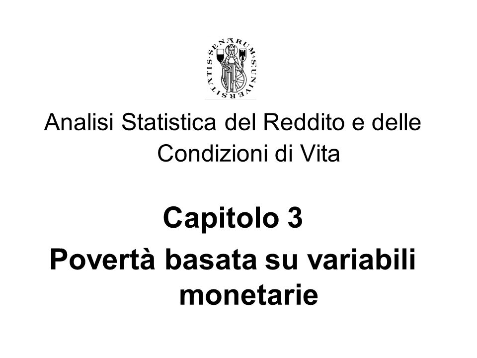Povertà basata su variabili monetarie