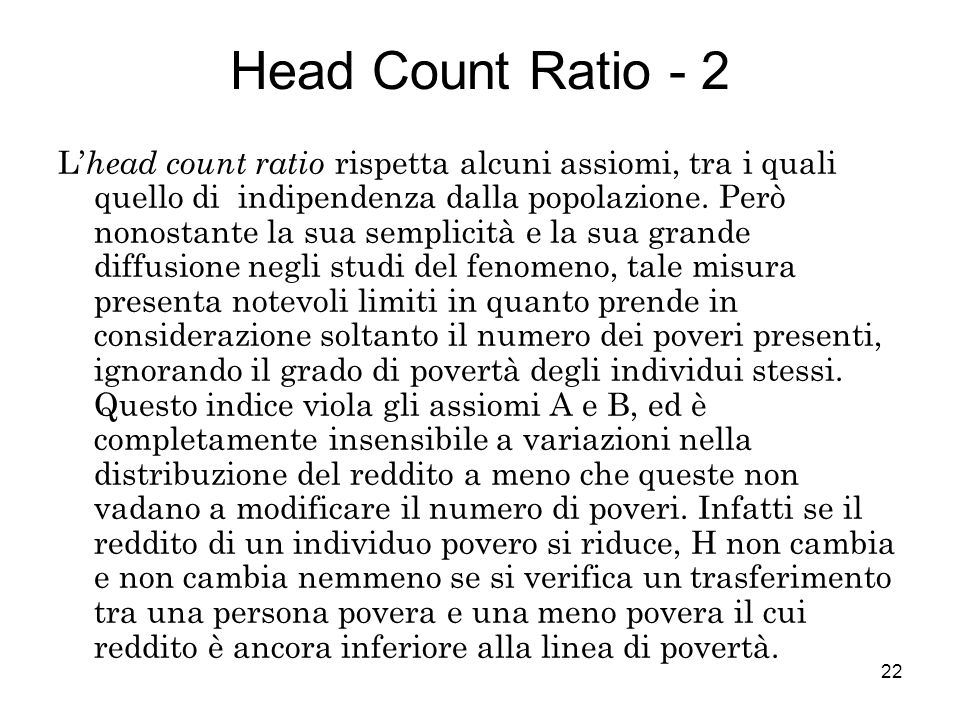 Head Count Ratio - 2