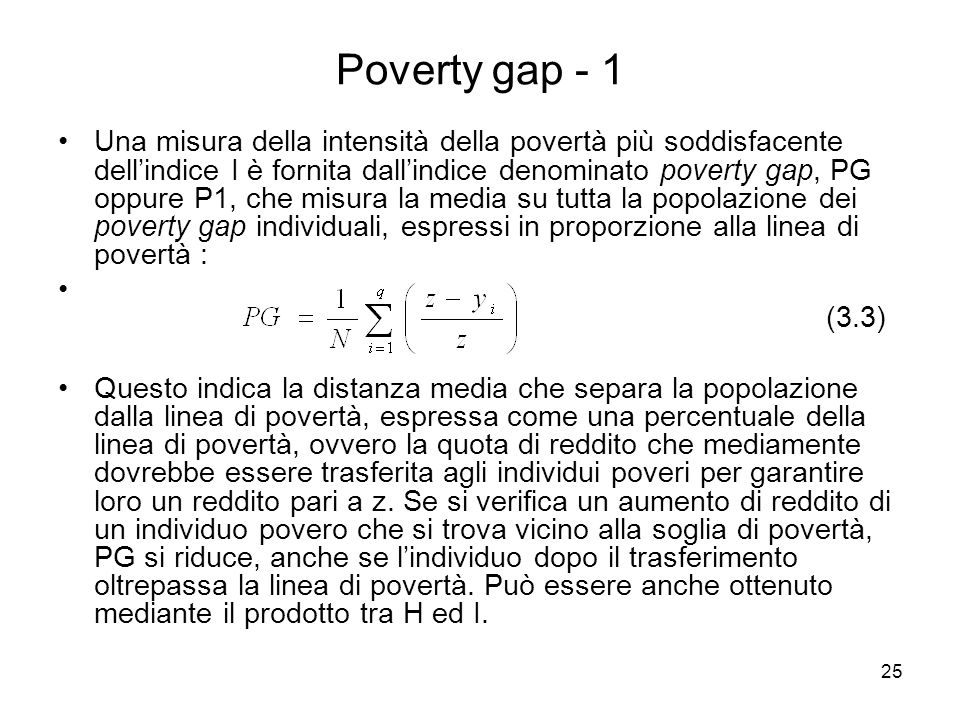 Poverty gap - 1