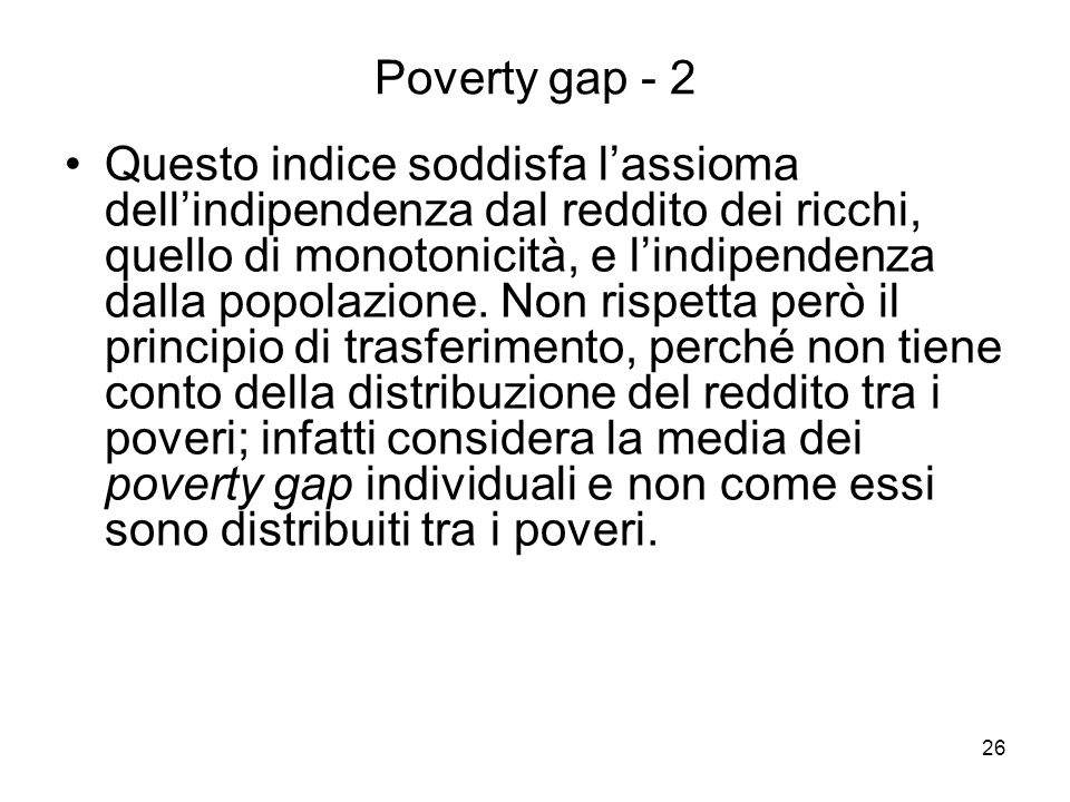Poverty gap - 2