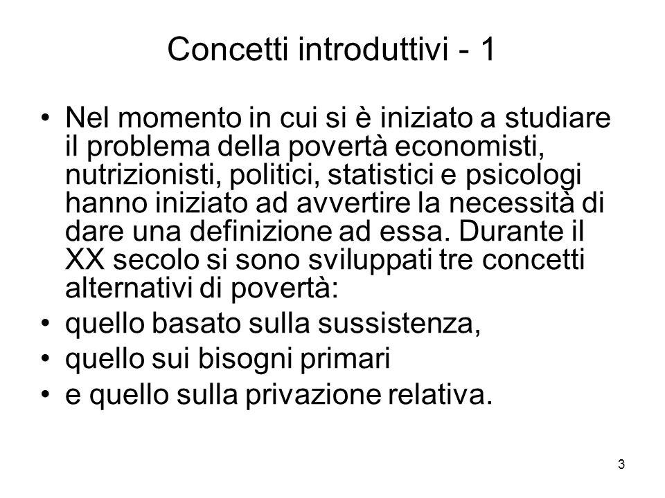 Concetti introduttivi - 1