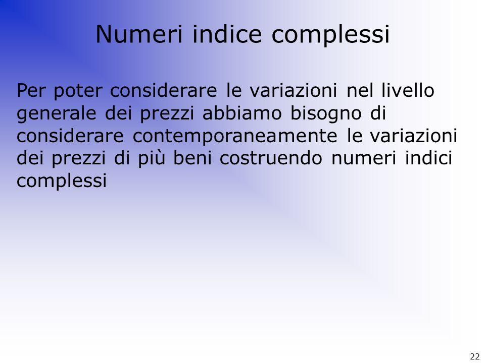 Numeri indice complessi