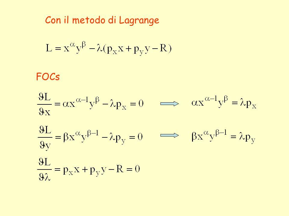 Con il metodo di Lagrange