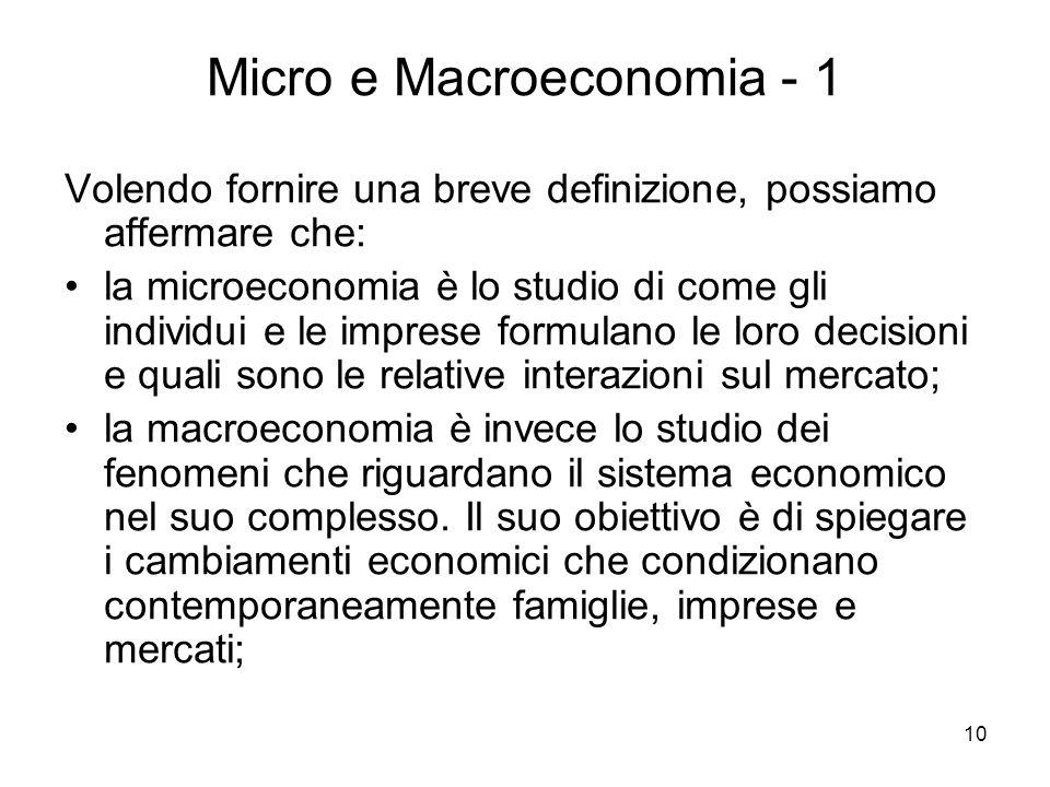 Micro e Macroeconomia - 1