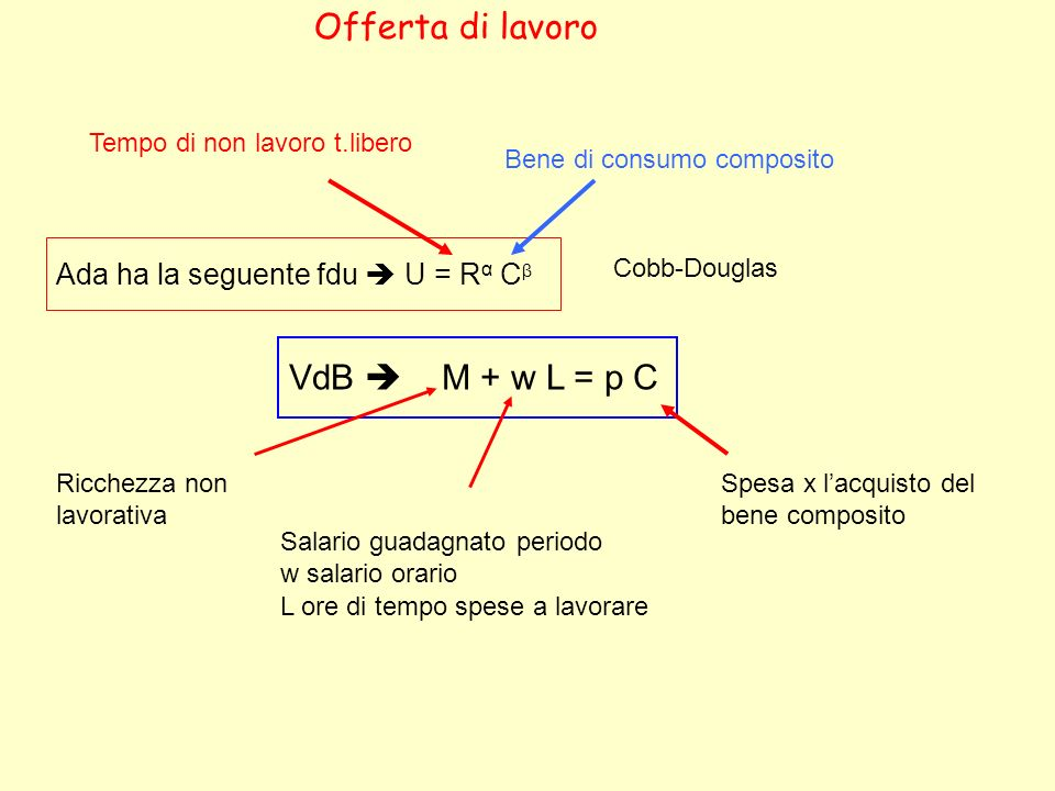 Offerta di lavoro VdB  M + w L = p C