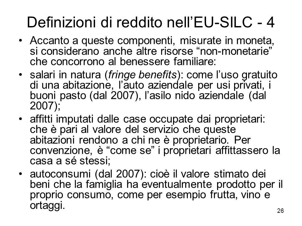 Definizioni di reddito nell'EU-SILC - 4