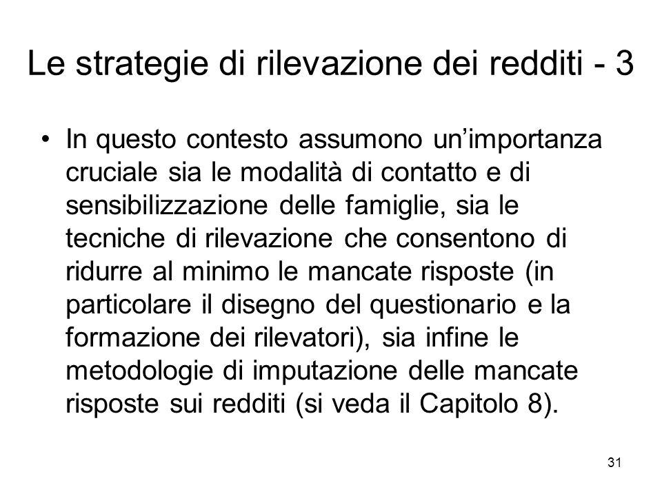 Le strategie di rilevazione dei redditi - 3