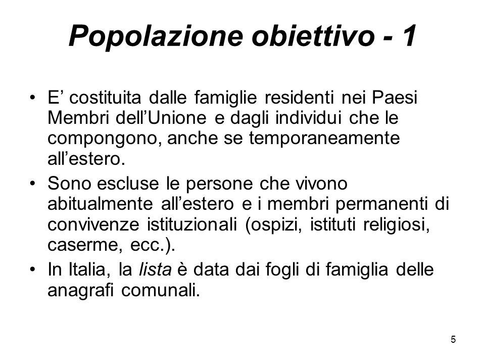 Popolazione obiettivo - 1