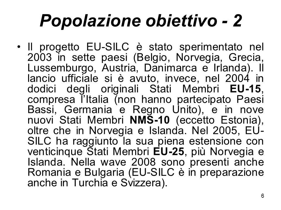 Popolazione obiettivo - 2