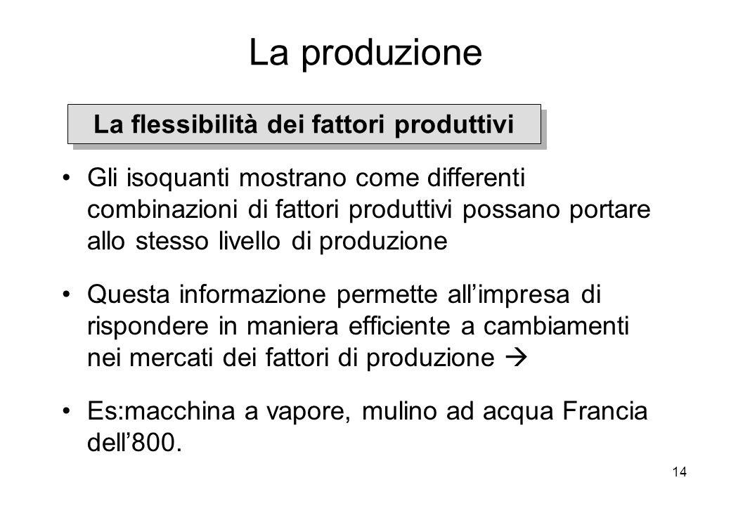 La flessibilità dei fattori produttivi