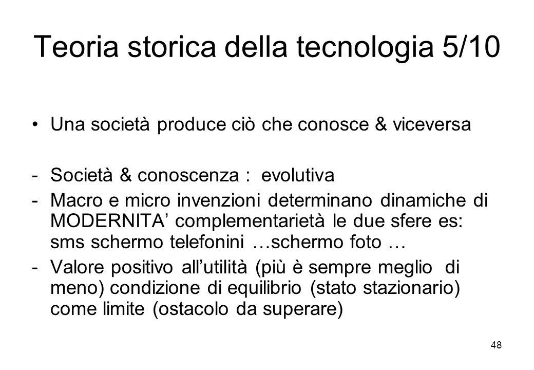 Teoria storica della tecnologia 5/10