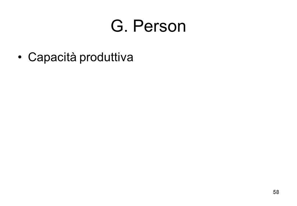 G. Person Capacità produttiva