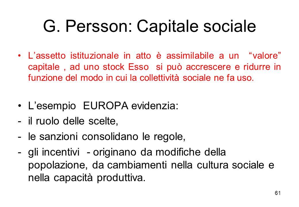 G. Persson: Capitale sociale
