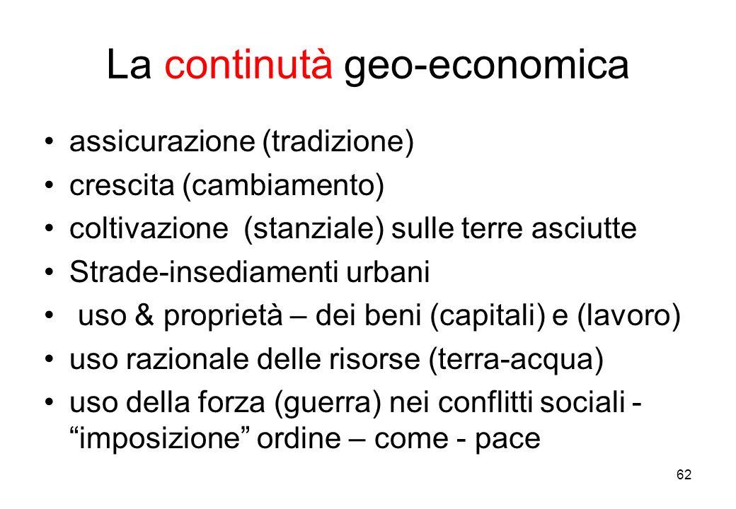 La continutà geo-economica