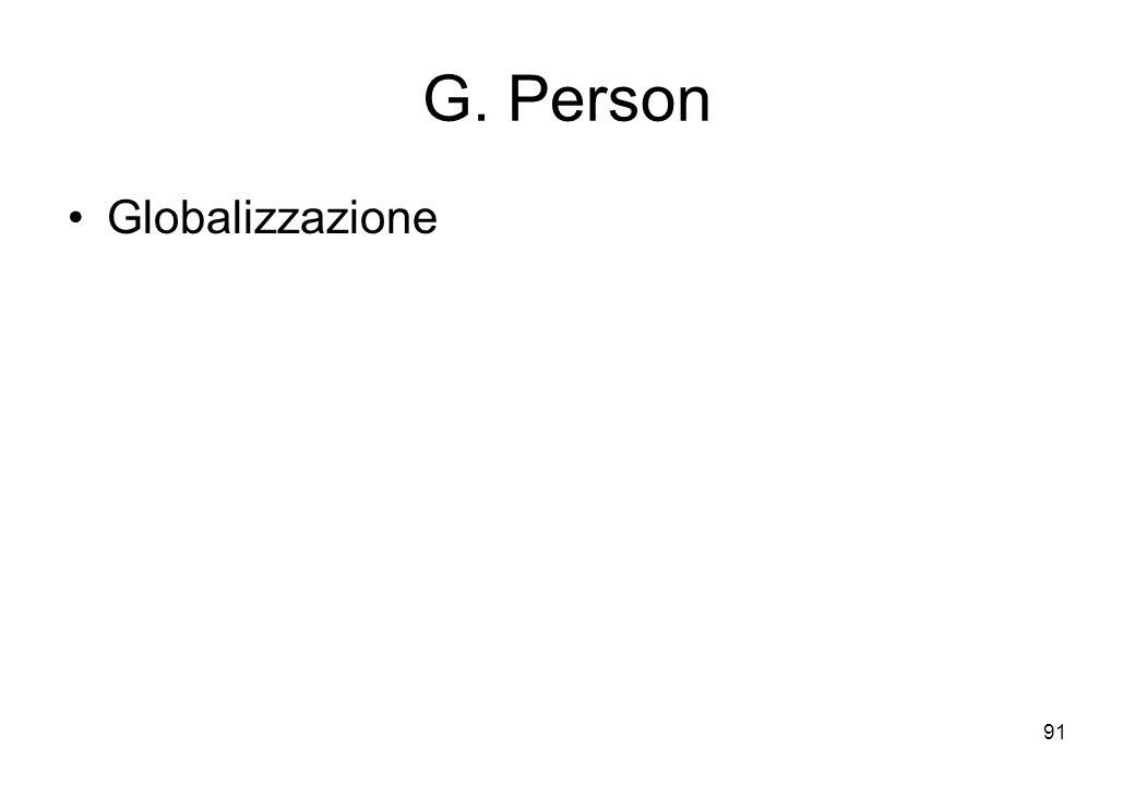 G. Person Globalizzazione