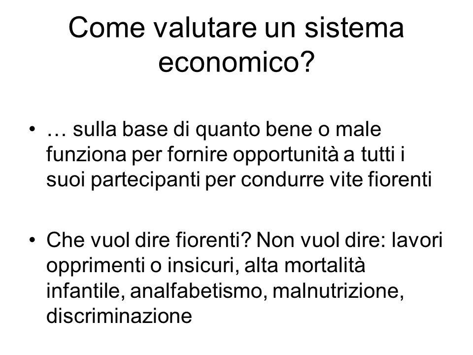 Come valutare un sistema economico