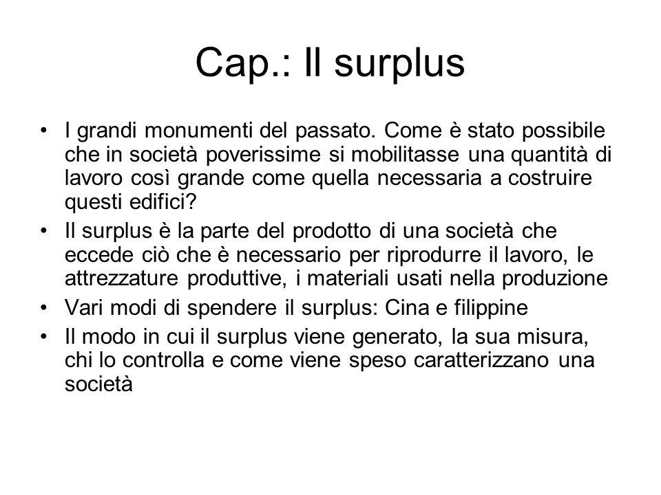 Cap.: Il surplus