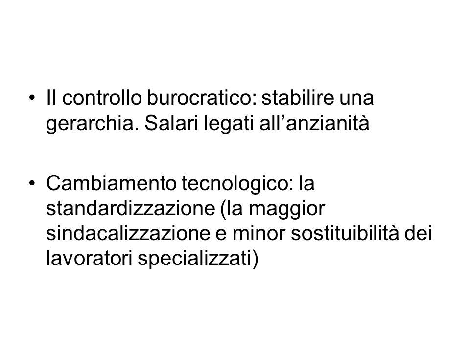Il controllo burocratico: stabilire una gerarchia