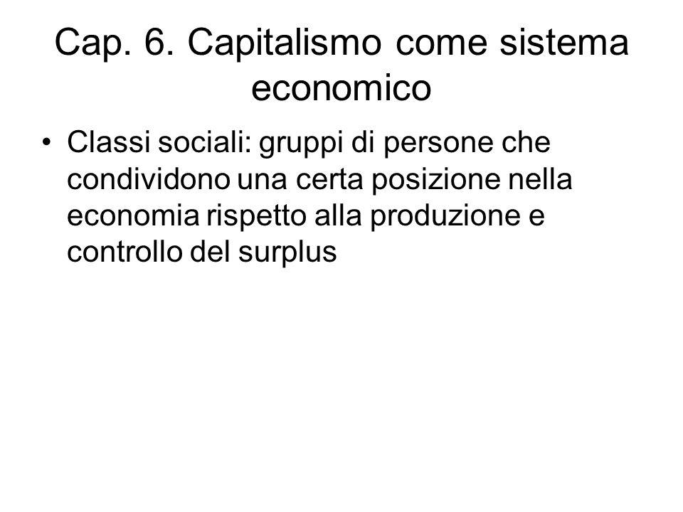 Cap. 6. Capitalismo come sistema economico