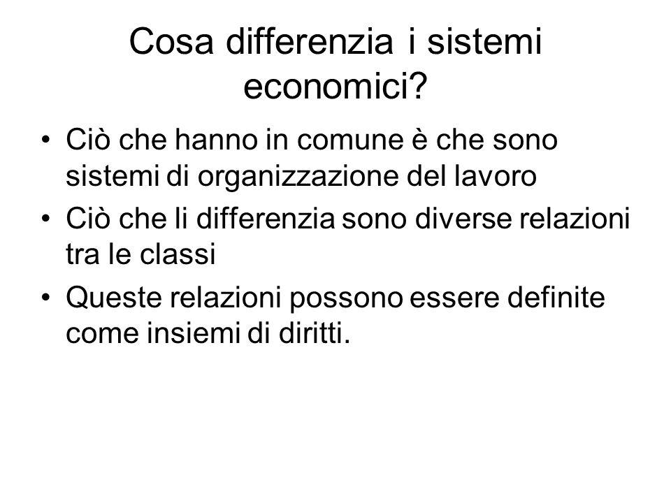 Cosa differenzia i sistemi economici