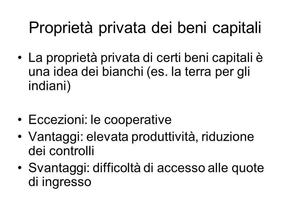 Proprietà privata dei beni capitali