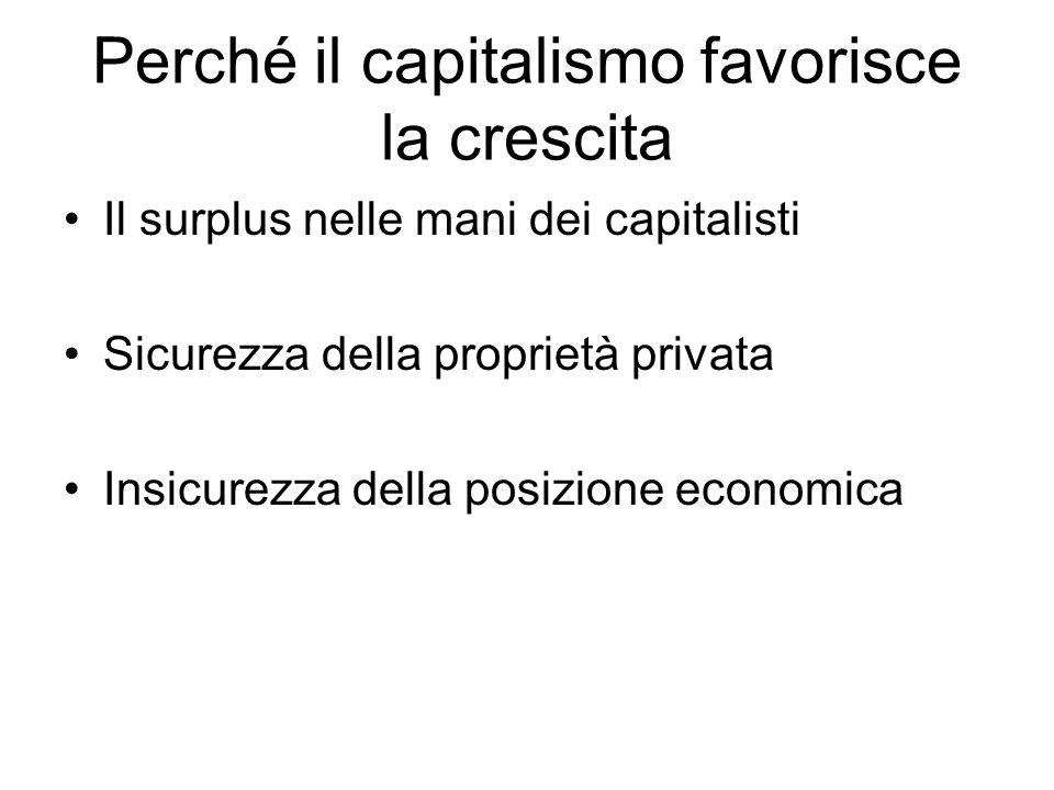 Perché il capitalismo favorisce la crescita