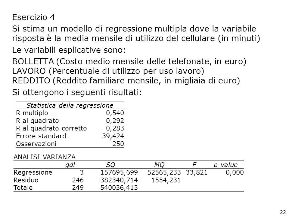 Statistica della regressione