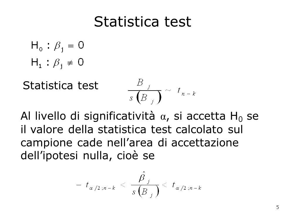 Statistica test Statistica test