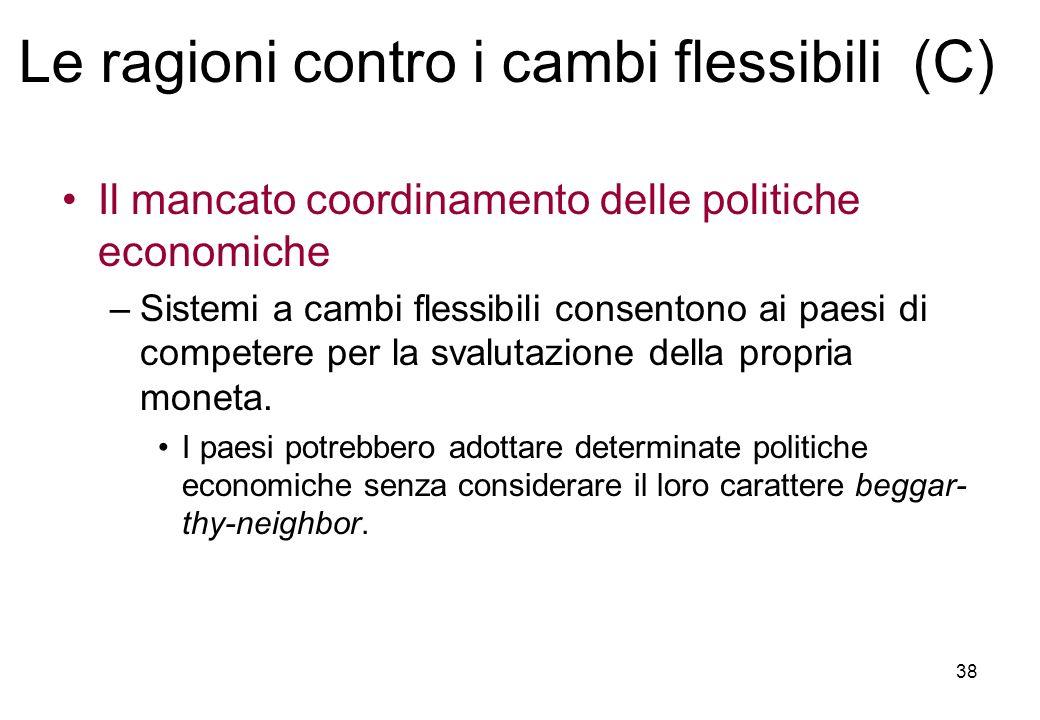Le ragioni contro i cambi flessibili (C)