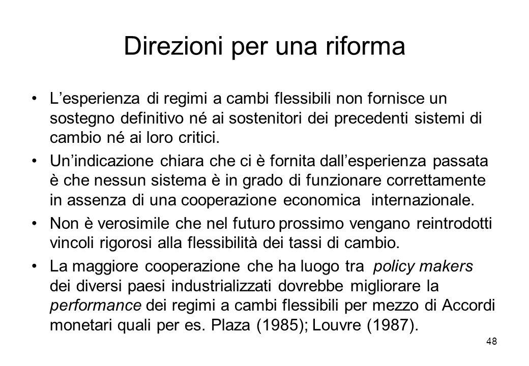 Direzioni per una riforma