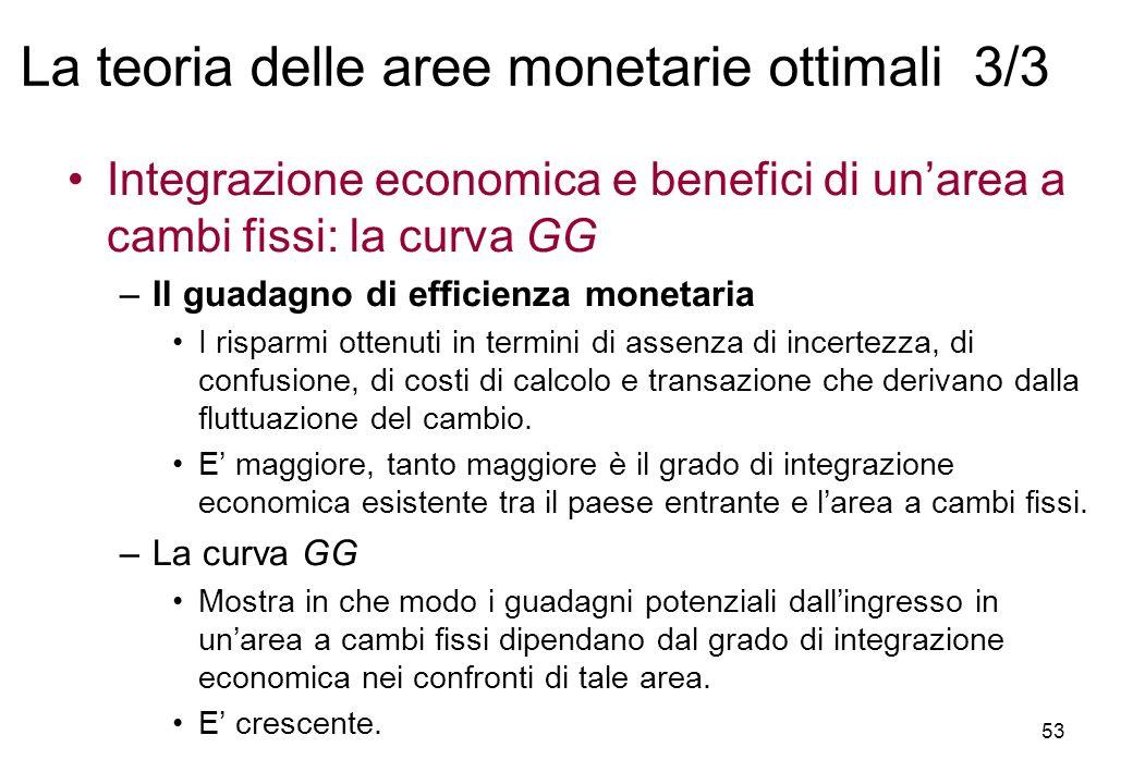 La teoria delle aree monetarie ottimali 3/3