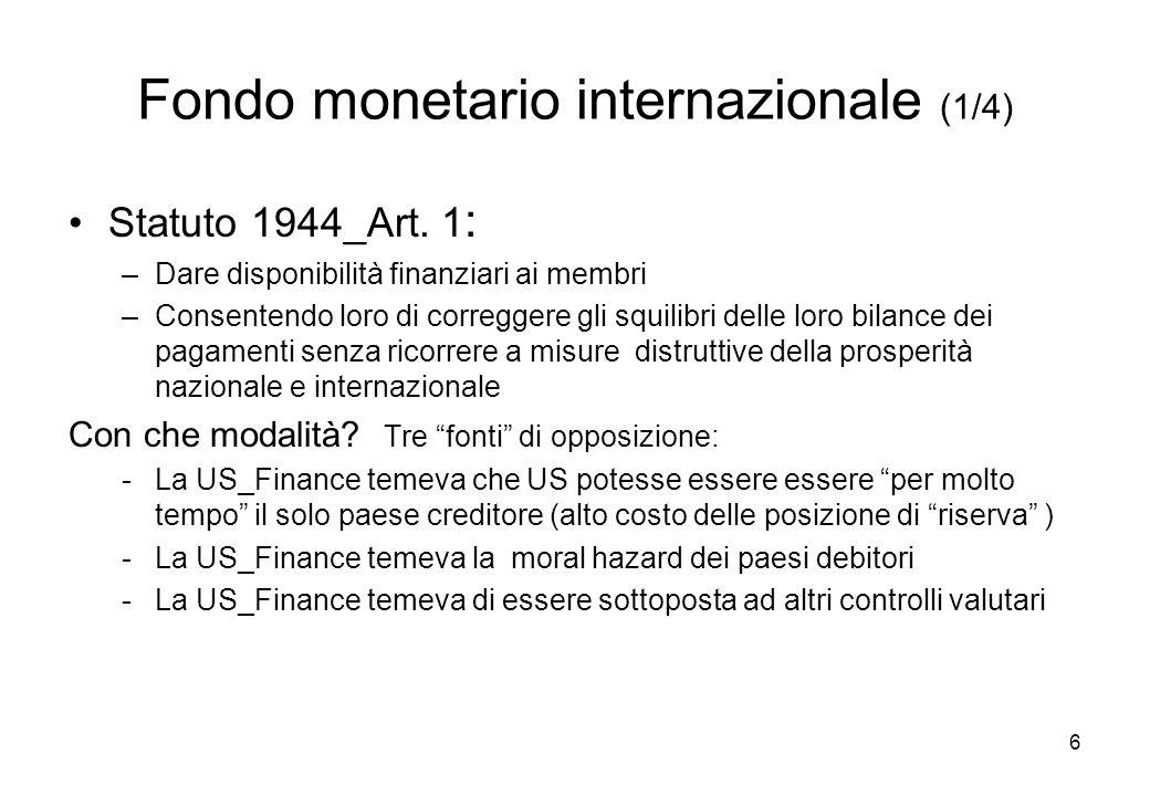 Fondo monetario internazionale (1/4)