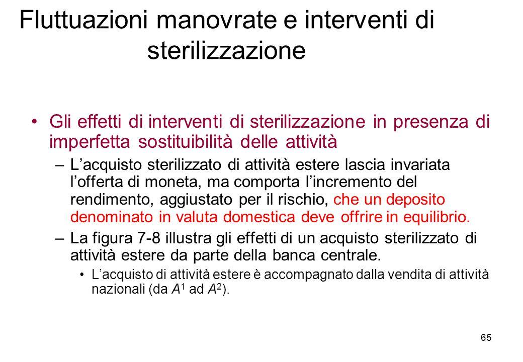 Fluttuazioni manovrate e interventi di sterilizzazione