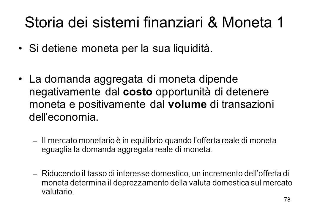 Storia dei sistemi finanziari & Moneta 1