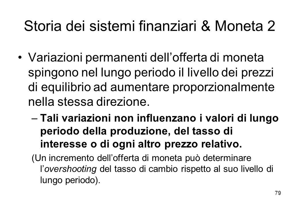Storia dei sistemi finanziari & Moneta 2
