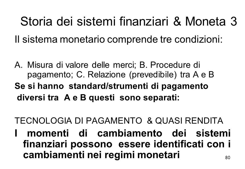 Storia dei sistemi finanziari & Moneta 3